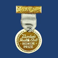 Uncle Don Children's Radio Program Borden's Health Club Award Medal 1930's