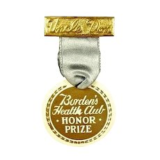 Uncle Don Children's Radio Program Borden's Health Club Award Medal 1930's