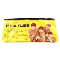 The Beatles Yellow Vinyl Pencil Pouch Case Original! ca. 1964-1965
