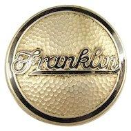 Franklin Automobile Enameled Radiator Grill Insignia ca. 1920's
