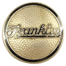 Franklin Automobile Enameled Radiator Grill Insignia ca. 1920's