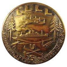 WWI US Loyal Legion of Lumbermen & Loggers Members Badge Bronze