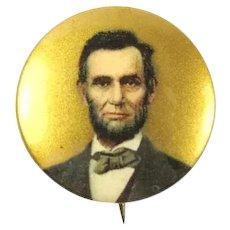 Abraham Lincoln Centennial Period Souvenir Pinback Button