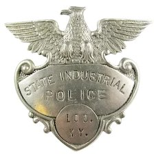 State Industrial Police Louisville, Kentucky Cap Badge ca. 1930s-40s