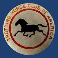 Trotting Horse Club of America Members Lapel Badge Pin #6 Sterling ca. 1920's-30's