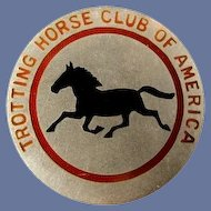 Trotting Horse Club of America Members Lapel Badge Pin #6 Sterling ca. 1920's-30's