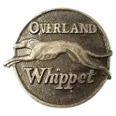 Willys-Overland Overland Whippet Automobile Lapel Stud 1926-1931