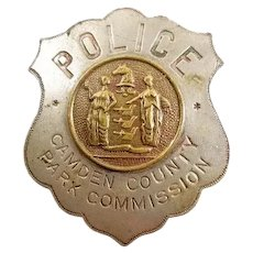 Police Camden County (New Jersey) Park Commission Badge ca. 1900-1920's