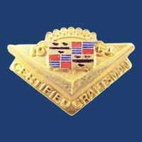 1954 Cadillac Company Certified Craftsman Award Pin
