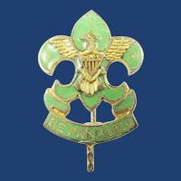 Earlier Boy Scout Asst. Scoutmasters Lapel Pin ca. 1920-1938