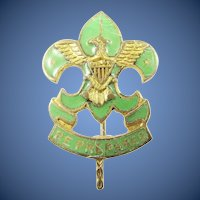 Earlier Boy Scout Asst. Scoutmasters Lapel Pin ca. 1920-1938