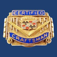 1955 Cadillac Company Certified Craftsman Award Pin