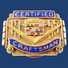 1955 Cadillac Company Certified Craftsman Award Pin