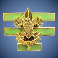 Boy Scout Senior Patrol Leaders Cap Insignia Device 1938-1945 mint condition!