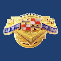 1956 Cadillac Company Certified Craftsman Award Pin