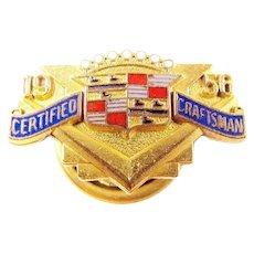 1956 Cadillac Company Certified Craftsman Award Pin