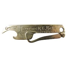 Lembeck & Betz Eagle Brewing Co. American Club Beer Jersey City N.J. Advertising Bottle Opener & Button Hook Pre-Prohibition ca. 1910-20