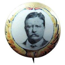 "1912 Teddy Roosevelt Progressive Party ""Bull Moose"" Campaign Pinback Button"