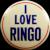 Original 1964 The Beatles I Love Ringo Concert Souvenir Pinback Button