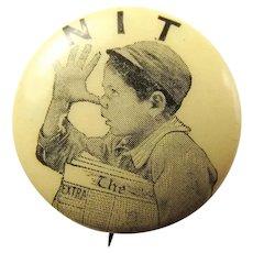 1896 NIT (Not In Trust) William McKinley Anti-Bryan Pinback Button