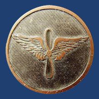 WWI US Army Air Service Enlisted Collar Disc brass or bronze