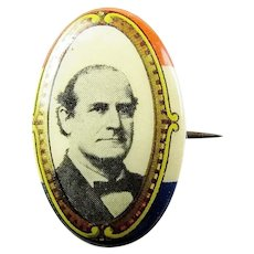 1908 William Jennings Bryan Democratic Political Campaign Pinback Button W & H