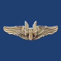 WWII US Army Air Corps Gunners Wings Amico Sterling