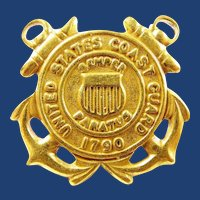 WWII US Coast Guard Brass Collar Insignia