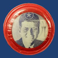 John F. Kennedy Cine-Vue Flasher Democratic Presidential Campaign Pinback Button