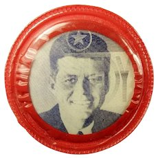 John F. Kennedy Cine-Vue Flasher Democratic Presidential Campaign Pinback Button