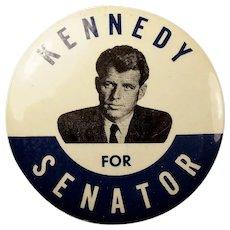 1964 RFK Robert F. Kennedy For Senator Democratic Campaign Political Pinback Button Scarce