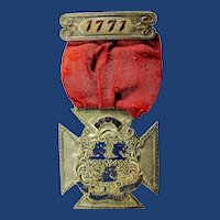 GFGVC Connecticut Governors Foot Guard Volunteer Company Centennial? Medal Silver ca. 1871