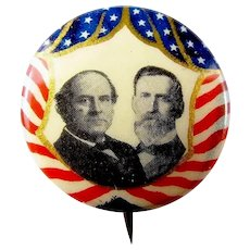 1908 Bryan and Kern Jugate Red, White, & Blue Presidential Campaign Pinback Button