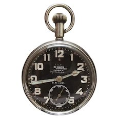 Rare Zenith Antique Vintage Circa 1916 ROYAL FLYING CORPS / RAF WW1 Military Pilots COCKPIT pocket watch.