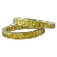 Superb Yellow Sapphire 18k Rings