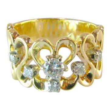Full of Heart Diamond 14k Ring