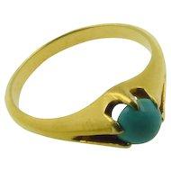 Turquoise 18k Ring