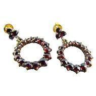 Lovely Bohemian Garnet 14k Earrings