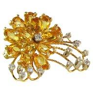 Delightful Sapphire Diamond 14 Pendant