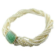 Pearl Jadeite 14k Necklace / Pendant