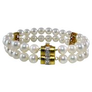 Akoya Pearl Diamond 18k Bracelet