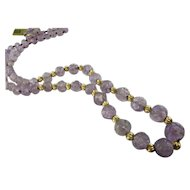 Deco 14k Amethyst Bead Necklace