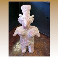 Ancient Pre-Columbian Sheep Faced Figure, Jalisco 200BC-300AD