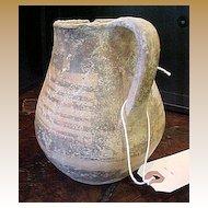 Ancient Decorated Hellenistic Jug, 800-700 B.C.