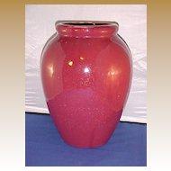 """Mid-Century Modern McCoy Urn Vase 12"""" """"Burgundy Sand"""" 1946"""