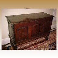 Chest Medieval French Chestnut Sideboard/Coffer  C. 1650