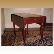 Scottish Short-Drop Leaf  Mahogany Table  C. 1830 original character