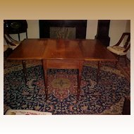 Dining Table  Long Drop Leaf Table C. 1830 with provenance