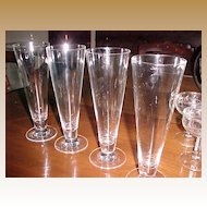 Crystal Pilsener Glasses 12 ounce Vintage  (set 4)