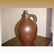 Brown Glazed Jug American Early 19th Century